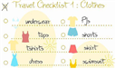 Lập checklist hành lý khi đi du lịch