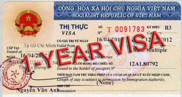 Gia hạn visa loại 1 năm nhiều lần