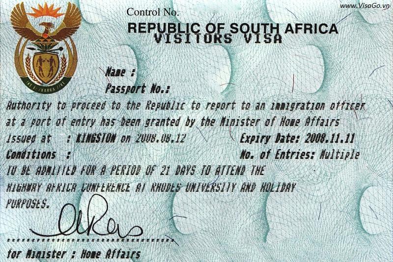 Làm Visa đi Nam Phi
