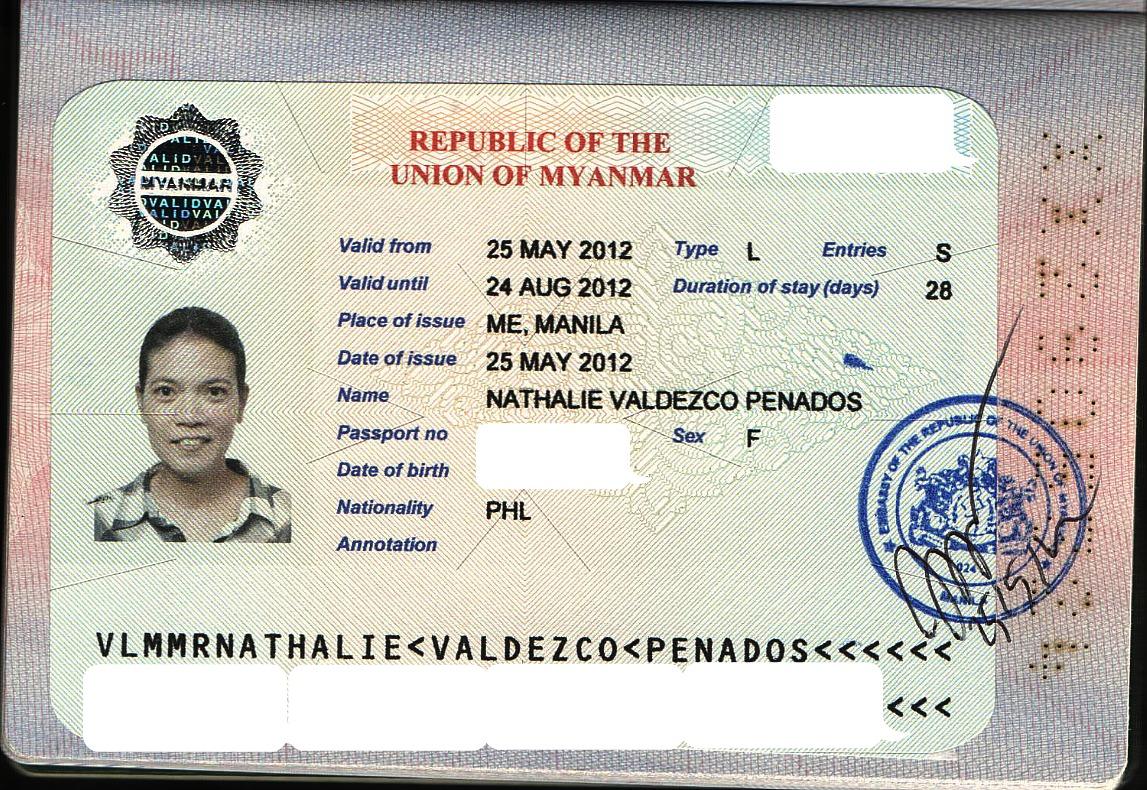 Làm Visa đi Myanmar