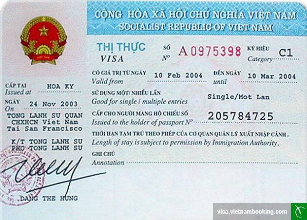 Thủ tục xin visa Việt Nam từ nước sở tại